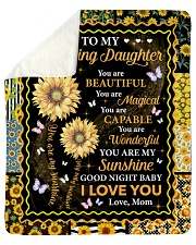 """You Are Beautiful Magical Capable Mom To Daughter Sherpa Fleece Blanket - 50"""" x 60"""" thumbnail"""