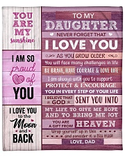 """You Are My Sunshine - Dad-To-Daughter Fleece Blanket - 50"""" x 60"""" front"""