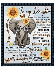 """To my Daughter Every day that you are not with me Fleece Blanket - 50"""" x 60"""" front"""