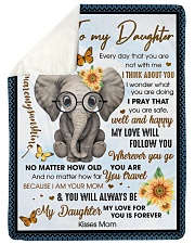 """To my Daughter Every day that you are not with me Large Sherpa Fleece Blanket - 60"""" x 80"""" thumbnail"""