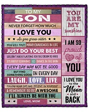 """Never Forget How Much I Love U Mom To Son Fleece Blanket - 50"""" x 60"""" front"""