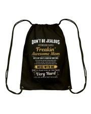 Don't Be Jealous I Have A Freakin' Awesome Mom Drawstring Bag thumbnail