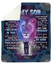 Never Forget That I Love U Lion Mom To Son Sherpa Fleece Blanket tile