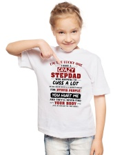 I'm The Lucky One I Have A Crazy Stepdad Youth T-Shirt lifestyle-youth-tshirt-front-2