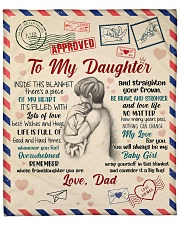 """Inside Blanket There's A Piece Dad To Daughter Fleece Blanket - 50"""" x 60"""" front"""