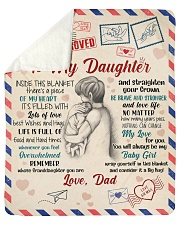 Inside Blanket There's A Piece Dad To Daughter Sherpa Fleece Blanket tile