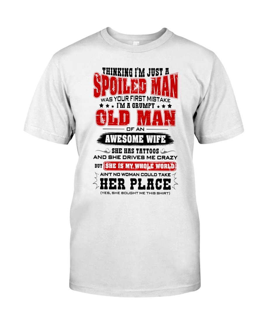 I'm A Grumpy Old Man Of An Awesome Wife Classic T-Shirt