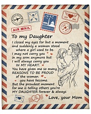 """I Close My Eyes For But A Moment Mom To Daughter Fleece Blanket - 50"""" x 60"""" front"""