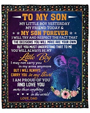 """My Little Boy Yesterday Friend Today - Dad To Son Fleece Blanket - 50"""" x 60"""" front"""