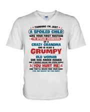 I'm Spoiled Grandson Of A Crazy Grandma V-Neck T-Shirt thumbnail
