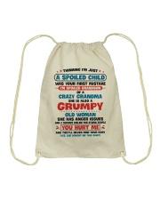 I'm Spoiled Grandson Of A Crazy Grandma Drawstring Bag thumbnail