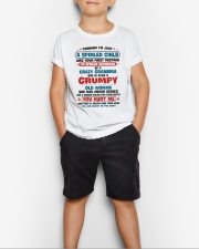 I'm Spoiled Grandson Of A Crazy Grandma Youth T-Shirt lifestyle-youth-tshirt-front-1