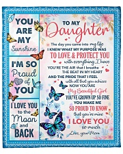 """The Day U Came Into My Life-Butterfly To Daughter Fleece Blanket - 50"""" x 60"""" front"""