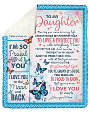 The Day U Came Into My Life-Butterfly To Daughter Sherpa Fleece Blanket tile