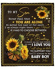 """Never feel that U r alone Mom-to-Son Fleece Blanket - 50"""" x 60"""" front"""
