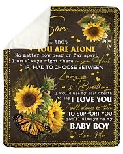"Never feel that U r alone Mom-to-Son Sherpa Fleece Blanket - 50"" x 60"" thumbnail"