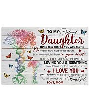 Daughter I Would Use My Last Breath To Say I LoveU 17x11 Poster front