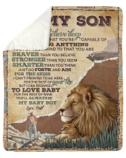 """Want U To Believe Deep In Your Heart Dad To Son Sherpa Fleece Blanket - 50"""" x 60"""" thumbnail"""