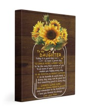 Today Is A Good Day  Mom To Daughter 11x14 Gallery Wrapped Canvas Prints front