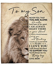 """Lion-Never Feel That U Are Alone -  Mom-To-Son Fleece Blanket - 50"""" x 60"""" front"""