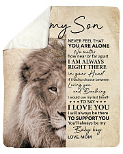 """Lion-Never Feel That U Are Alone -  Mom-To-Son Sherpa Fleece Blanket - 50"""" x 60"""" thumbnail"""