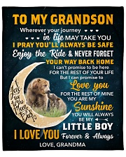 """GS Bear I Can Promise 2Love U For The Rest Of Mine Fleece Blanket - 50"""" x 60"""" front"""