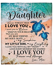 """Never Forget That ILoveU-Turtle - Mom-To-Daughter Fleece Blanket - 50"""" x 60"""" front"""