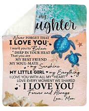 Never Forget That ILoveU-Turtle - Mom-To-Daughter Sherpa Fleece Blanket tile
