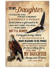 I Closed My Eyes For But A Moment Dad To Daughter Vertical Poster tile