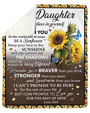 I Hope U Believe In Yourself Dad To Daughter Sherpa Fleece Blanket tile