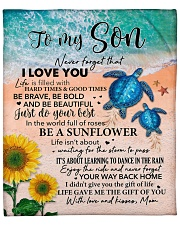 """Blue Turtle-Never forget that I Love U Mom-To-Son Fleece Blanket - 50"""" x 60"""" front"""