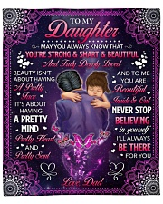 """May U Always Know U Are Strong Dad To Daughter Fleece Blanket - 50"""" x 60"""" front"""
