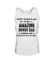 Happy Father's Day To My Amazing Bonus Dad Unisex Tank thumbnail