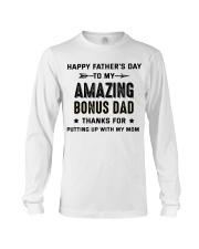 Happy Father's Day To My Amazing Bonus Dad Long Sleeve Tee thumbnail