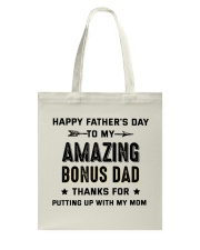 Happy Father's Day To My Amazing Bonus Dad Tote Bag thumbnail