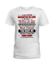 I'm Not Pefect DIl But Crazy MIL Loves Me Ladies T-Shirt thumbnail