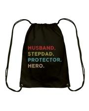 Husband Stepdad Protector Hero Drawstring Bag thumbnail