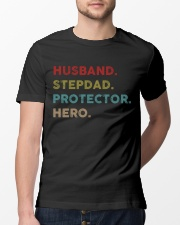 Husband Stepdad Protector Hero Classic T-Shirt lifestyle-mens-crewneck-front-13