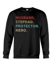 Husband Stepdad Protector Hero Crewneck Sweatshirt thumbnail