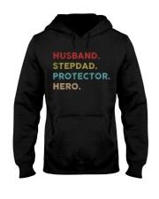 Husband Stepdad Protector Hero Hooded Sweatshirt thumbnail
