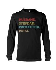 Husband Stepdad Protector Hero Long Sleeve Tee thumbnail