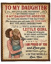"My Little Girl Yesterday Mom To Daughter Fleece Blanket - 50"" x 60"" front"
