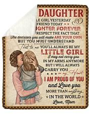 "My Little Girl Yesterday Mom To Daughter Sherpa Fleece Blanket - 50"" x 60"" thumbnail"