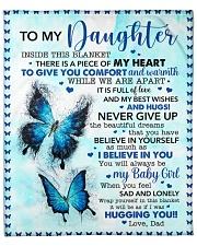 """Inside Blanket Is Piece Of My Hear-Dad To Daughter Fleece Blanket - 50"""" x 60"""" front"""