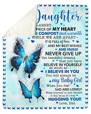 Inside Blanket Is Piece Of My Hear-Dad To Daughter Sherpa Fleece Blanket tile