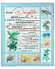 """Never Forget That I Love U-Turtle Dad-To-Daughter Fleece Blanket - 50"""" x 60"""" front"""