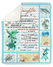 Never Forget That I Love U-Turtle Dad-To-Daughter Sherpa Fleece Blanket tile