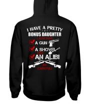 I have a pretty Bonus Daughter be careful Hooded Sweatshirt thumbnail