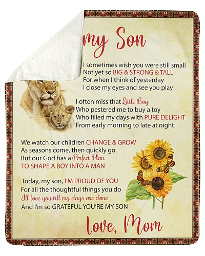 To My Son I'll Love You Till My Days Are Done