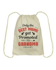Only The Best Mom Get Promoted To Grandma Drawstring Bag thumbnail